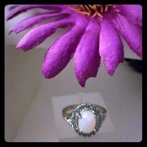 (NWT) White Fire Opal 925 Silver